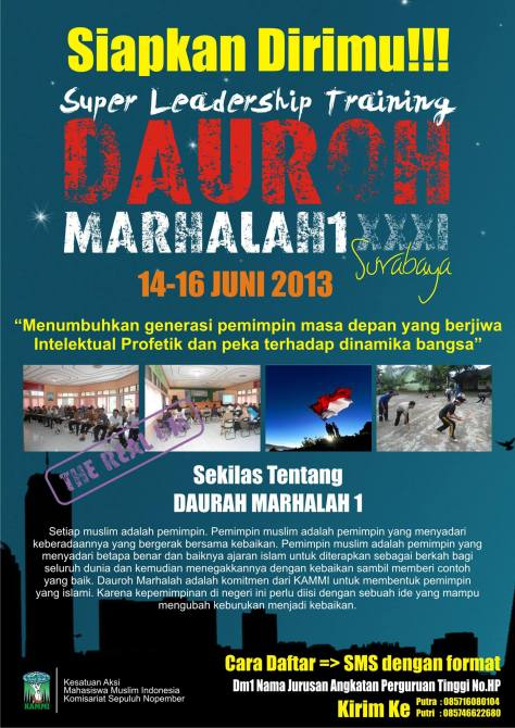 SUPER LEADERSHIP TRAINING - DAUROH MARHALAH 1 KE-31 KAMMI SEPULUH NOPEMBER